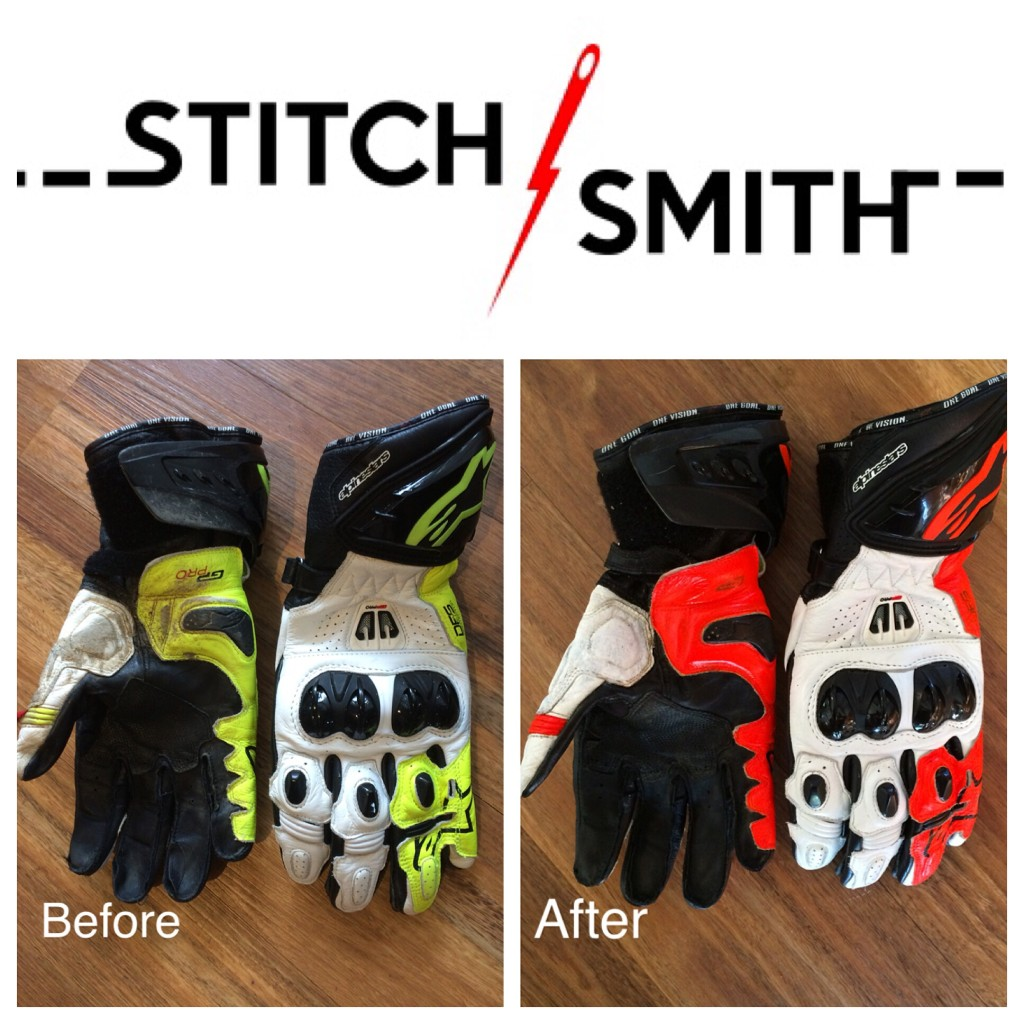 These gloves were changes from fluoro yellow to fluor orange to match a Dainese race