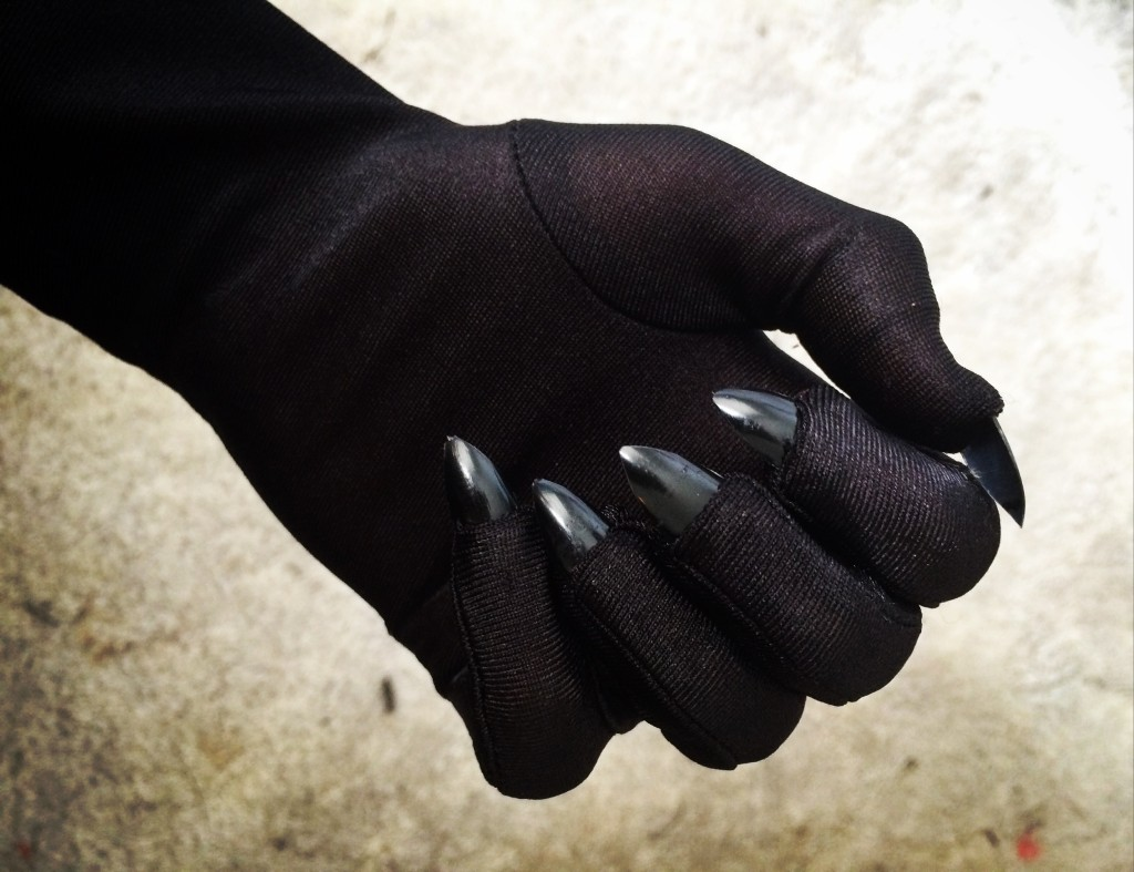 Catwoman gloves with claws.