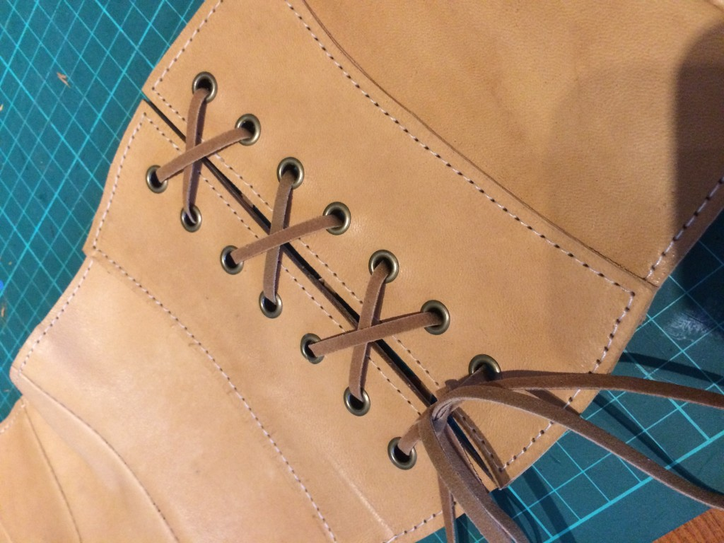 Custom Leather Corset Belt.
